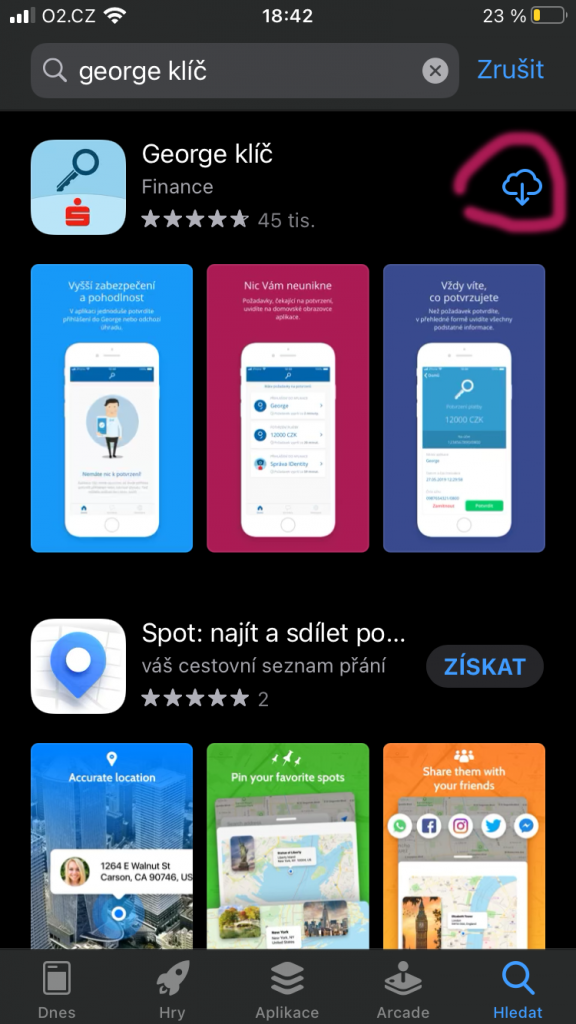 App store george klíč