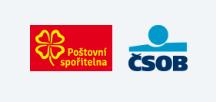 logo poštovní spořitelny a čsob