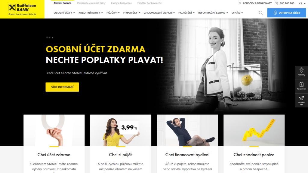 Reifensenbank - rb.cz úvodní stránka